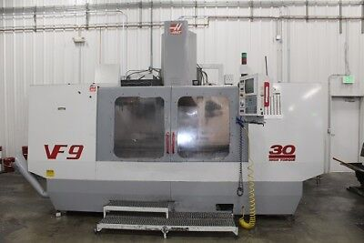"""USED HAAS VF-9/50 CNC VERTICAL MILL 1999 Cat 50 84.40.30"""" 5000 RPM Fourth Axis, used for sale  Fort Mill"""