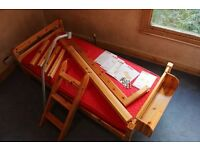Flexa mid height cabin bed (converts to low bed) for sale