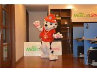 Kids Party Marshall from Paw Patrol will turn up with a birthday card from him and the gang