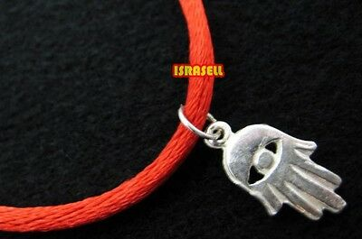 AUTHENTIC KABBALAH RED STRING BRACELET WITH 925 STERLING SILVER HAMSA