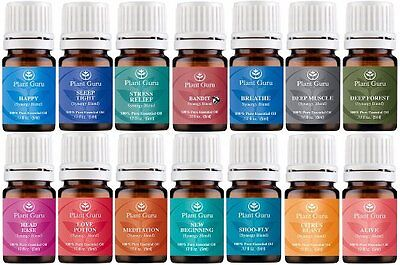 Essential Oil Blends Set 14 - 5 ml Therapeutic Grade 100% Natural Pure Oils Lot