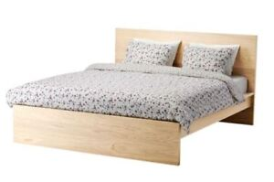 !!BARGIN!! The Lot!  Ikea MALM Bed, Sides, QS Mattress & Topper