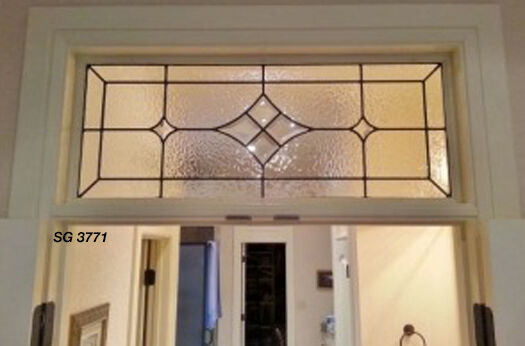 Leaded glass window Bevel Cluster star  & texture art glass SGDK 3771