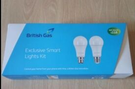 British Gas - Exclusive Smart Lights Kit - HIVE - WI-FI LIGHT BULBS x 2 - WORTH £ 118