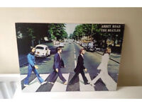 Beatles abbey road wood poster plaque