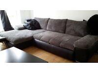 3 seater L-shaped corner sofa bed