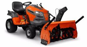 Husqvarna Tractor w/ Snowblower, No Interest for 36 months!!