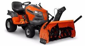 Husqvarna Tractor w/ Snowblower, No Interest for 36 months!!