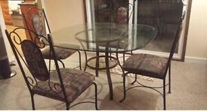 Glass Dining Room Table Set! Can Deliver