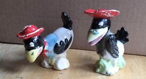 Vintage Heckle and Jeckle Salt Shakers