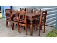 Dining table with chairs can deliver