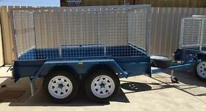KESSNER TRAILERS 8X5 H/DUTY TANDEM BOX TRAILER WITH GALV CAGE Pooraka Salisbury Area Preview