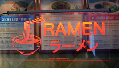 Ramen Noodle Lighted Sign, Better than Neon Sign! 30