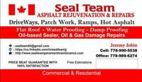 Seal Team Pavement Maintenance- for all your pavement needs.