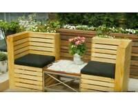 Garden furniture hand made