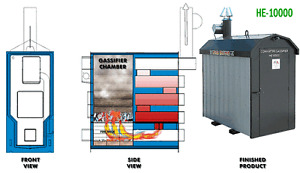 Outdoor gasification boiler, high efficiency        REDUCED