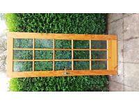 2 Internal wood/glass door