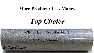 Silver Glitter Heat Transfer Vinyl 1 Yard 3 Feet Free Shipping