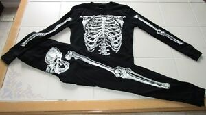 Boys 2pc long sleeve skeleton pj's from ON size Small 12 *NEW