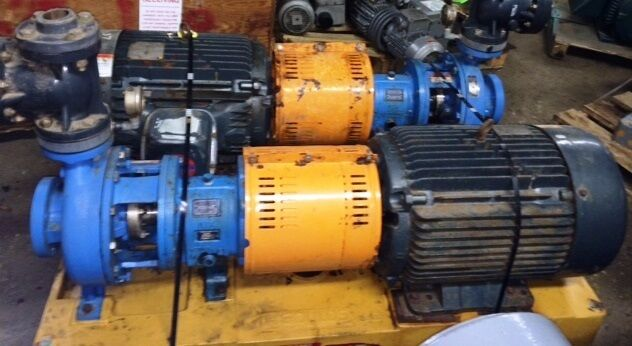 Goulds 2x3x10 3196 MTX Pumps,  316SS with base & Motor