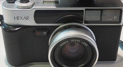 Konica Hexar AF 35mm Point and Shoot Film Camera With Original Flash