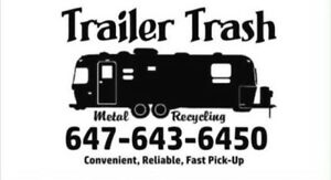 Trailer Trash Trailer Removal and site clean up service