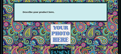 AUCTION TEMPLATE Paisley Background Design - FREE SHIPPING - $1.99