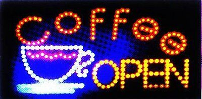Ultra Bright LED Neon Light Animated Motion Coffee Cup Open Sign (Coffee Cup Led Sign)