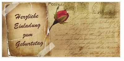 karte vintage Rose retro runder Geburtstag Erwachsene 50 60 (Vintage 60 Geburtstag Einladungen)