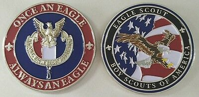 EAGLE SCOUT Challenge Coin BSA Boy Scouts Large Heavy knot medal 2017 Jamboree