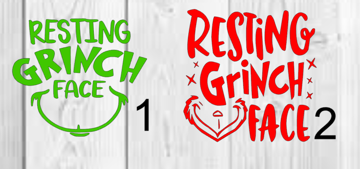 Home Decoration - Personalized Resting Grinch Face Vinyl Decal 3x3