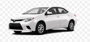 2016 Toyota Corolla White Sedan