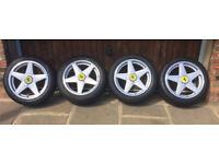 Set Of 4 replica Ferrari wheels