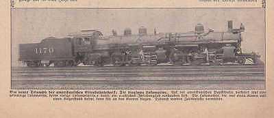 Biegsame Lokomotive Eisenbahntechnik Foto aus Zeitung von 1911 Eisenbahn