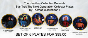 Star Trek The Next Generation Collector Plates (Set of 6)
