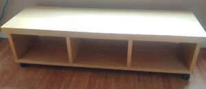 Ikea maple laminated solid wood TV Bench