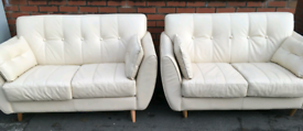 2 x 2 white settees
