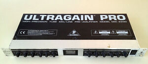 Behringher Ultragain Pro MIC 2200 2-Channel Mic / Line Preamp