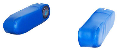 F8000arv Arm Rests Blue Vinyl For Ford New Holland 8000 8200 8400 Tractors