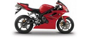 MAISTO 06186 TRIUMPH DAYTONA 675 diecast model sports bike Red / black 1:18th