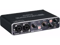 Roland UA-55 Quad Capture USB2.0 Audio Interface(only 3time used)usb sound card