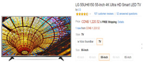 55-inch 4K HIGH DEFINITION TV AND OTHER FURNITURE ITEMS