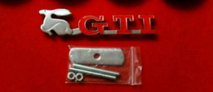 Grill Emblem for Volkswagen (VW) with GTI Rabbit - NEW