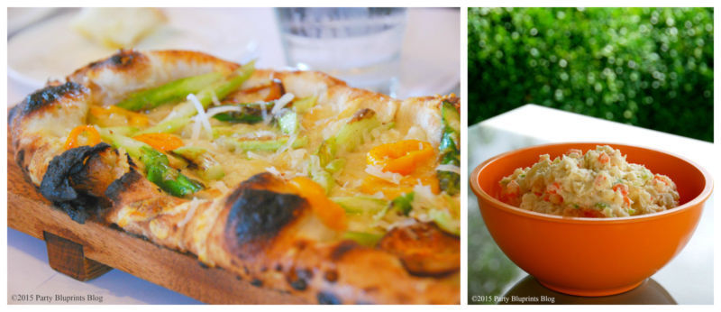We love serving flatbread with seasonal fresh veggies and homemade potato salad. {recipes on our blog}