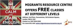 FREE classes for Migrants & Refugees- English, Job search, Computer, Network, Yoga & general advice!