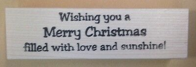 Mounted Rubber Stamp, Christmas Cards, Merry Christmas, Sayings, Love & Sunshine - Christmas Cards Sayings
