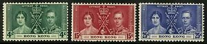 Hong-Kong-1937-Scott-151-153-MLH-Set