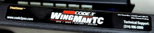 Code 3 Wingman with TriCore EMERGENCY LIGHTS VISOR RED/BLUE