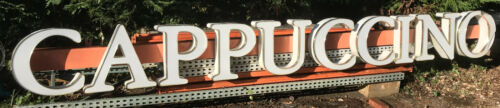 Cappuccino Outdoor Lighted Sign 16 Feet Long Works Right