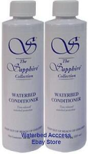 Two-4-oz-Bottles-of-BLUE-MAGIC-Waterbed-Conditioner-For-all-Water-Bed-Mattresses